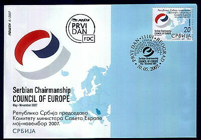 0073 SERBIA 2007 - The Council of Europe - FDC