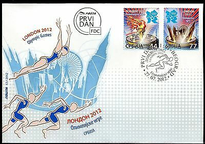 512 SERBIA 2012 - Olympic Games London - FDC