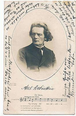 Musician - Rppc - Anton Rubinstein, Russian Pianist And Composer, 1903