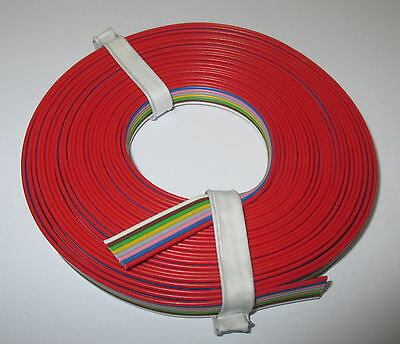 [1m = 8-fold Stranded wire 5m Flat band cable 8 Colors NEW