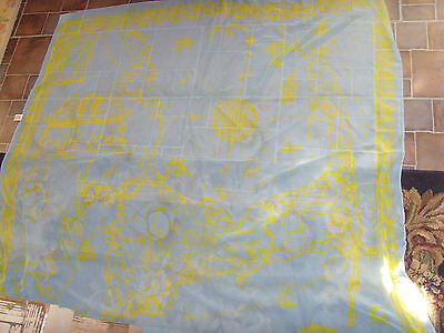 Beautiful flawed tablecloth scarf vintage reproduction Cape Cod Bay beach chic
