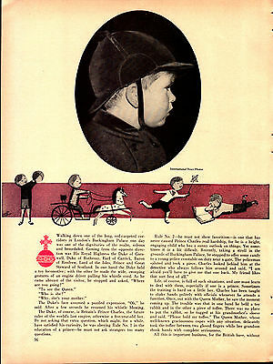Vintage 1954 Article HOW TO BRING UP A PRINCE (Prince Charles at 5 yrs. old)