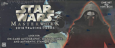 2016 Topps Star Wars Masterwork Trading Card Box - FREE SHIPPING
