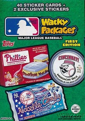 2016 Topps Wacky Packages MLB Baseball EXCLUSIVE Factory Sealed Value Box-