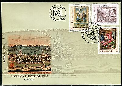 883 SERBIA 2015 - Museum Exhibits - Icons - Copperplate - FDC