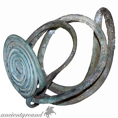 Scarce Bronze Age Greek Military Armour Hand Spiral Bangle 2500-1500 Bc