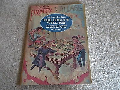 THE PRETTY VILLAGE Paper Antique Toy Village Book by  MCLOUGHLIN BROS.