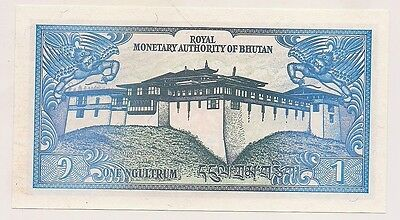 Royal Monetary Authority of Bhutan One Ngultrum Banknote--Pristine Condition !