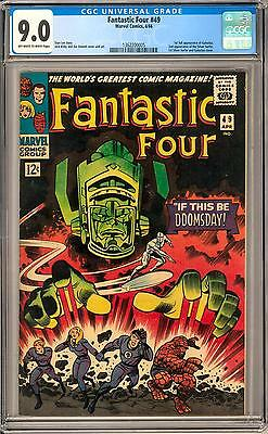 Fantastic Four #49 CGC 9.0 (OW-W) 1st Full Galactus Appearance