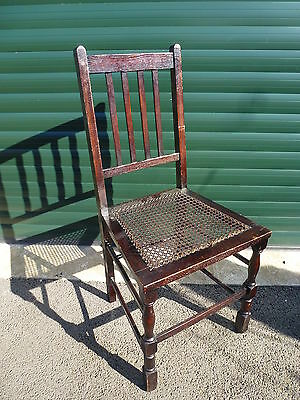 Wooden Hall Chair With Rattan Seat - Dressing Bedroom Dining Parlour - Project