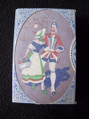 VINTAGE ART DECO 1930's PACK OF DE LA RUE PLAYING CARDS - SOLDIER & SWEETHEART