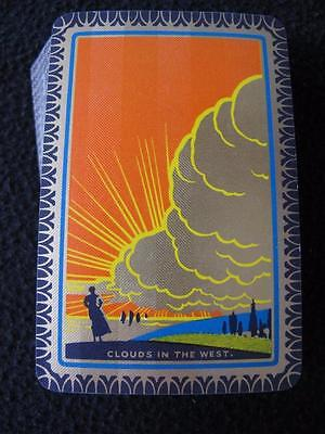 VINTAGE ART DECO 1930's DE LA RUE PACK OF PLAYING CARDS - CLOUDS IN THE WEST