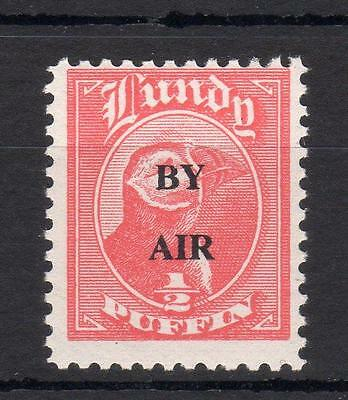 LUNDY: 1/2p 'BY AIR' (WIDE) OVERPRINT UNMOUNTED MINT