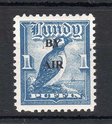 LUNDY: 1p 'BY AIR' (WIDE) OVERPRINT UNMOUNTED MINT