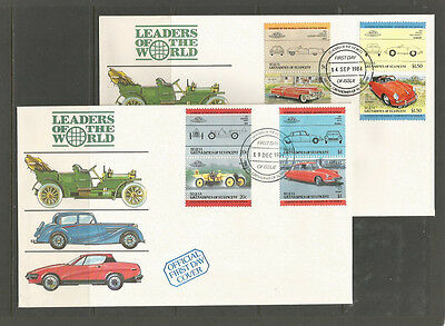 Grenadines of St Vincent (Bequia) 1984-6 Cars / Automobiles 5 FDCs [1]