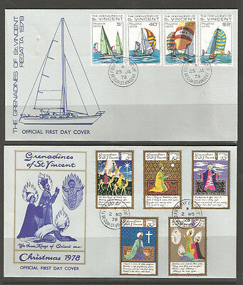 Grenadines of St. Vincent five FDCs (2) [two scans]