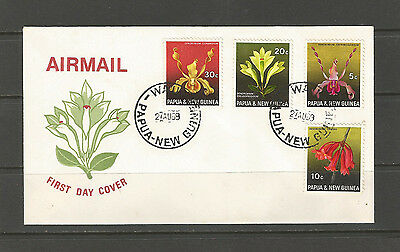 Papua New Guinea 1969 Orchids FDC, SG159-62