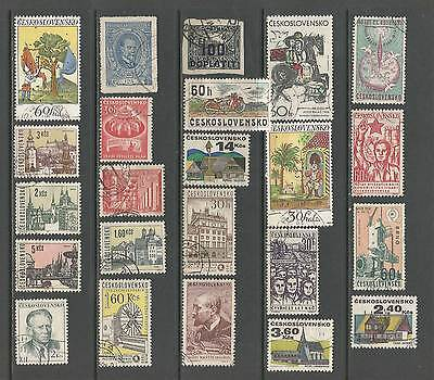 Czechoslovakia used selection, 1p per stamp!! [4 scans]