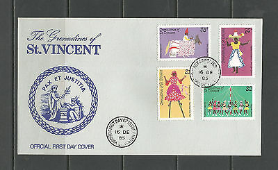 Grenadines of St. Vincent 1985 Traditional Dances FDC, SG427-30