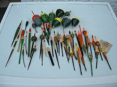A collection of various vintage Coarse Fishing Floats