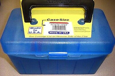 MTM Case Gard™ Deluxe Rifle Ammo Box 50 RD Handle H50-RL-24 Blue 30-06, 300 win