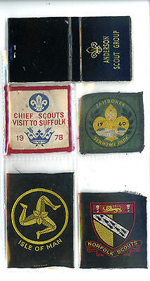 4 Cloth Boy Scouts Badges Including Jamboree 1960 ,chief Scouts Visit To Suffolk