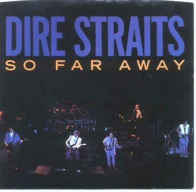 Dire Straits 45Rpm Record With Sleeve 1985 So Far Away, Original