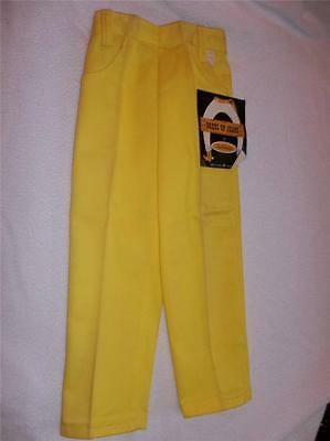 GIRL'S VTG 1970s BRIGHT YELLOW DENIM JEANS PULL ON COTTON PANTS SZ 5 NWT