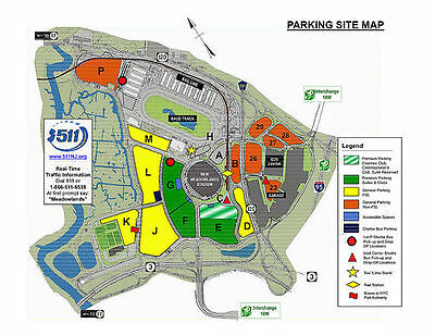 New York Jets vs Indianapolis Colts Yellow Parking 12/05/16 Met Life Stadium