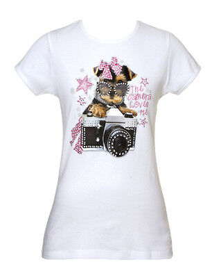Womens The Camera Loves Me Dog Short-Sleeve T-Shirt
