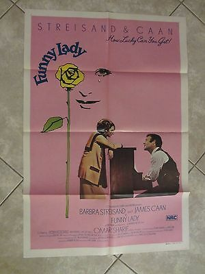 FUNNY LADY poster BARBRA STREISAND poster, JAMES CAAN