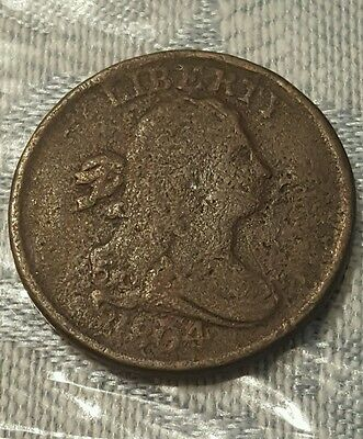 1804 Draped Bust Half Cent - Crosslet 4, With Stems - Fine!!!