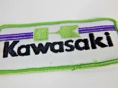 Nos Vintage 1970s 80s Kawasaki Patch Retro Deadstock Glued Motorcycle Motorcross