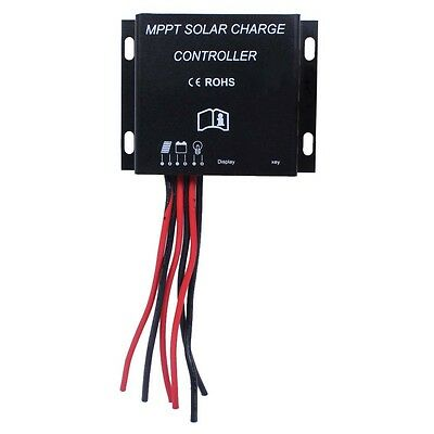 LED 10A MPPT Solar Charge Controller 12/24V Auto Switch Waterproof Timer IP68 BA