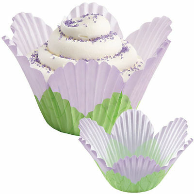 Wilton Lavender Petal Party Baking Cups 24 Pack Candy Cupcake Cake Muffin Liners