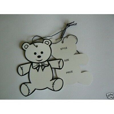 1000 Swing /Hang Tags, Die Cut Teddy Bear