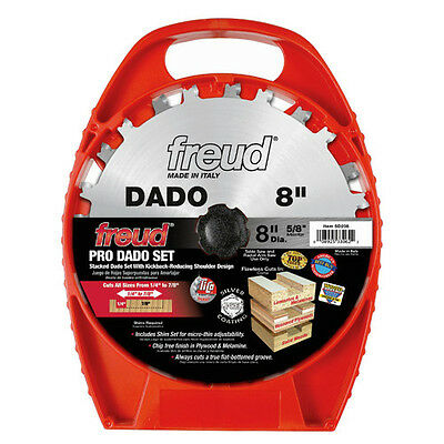 "Freud 8"" 12 Tooth Pro Stack Dado Set SD208 New"