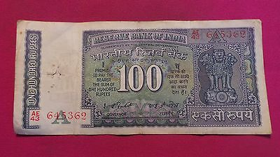 India, 100 Rupees Banknote. Un-dated, signature version 82 (77-82). #AE43 645362
