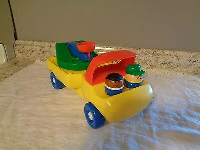 Vtg Little Tikes Toddle Tots Cherry Picker Truck  Worker People