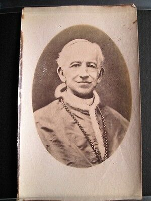 POPE LEO XIII, OLDEST POPE - SMALL ALBUMEN PHOTO (1870s)
