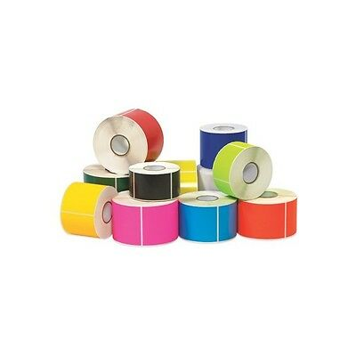 """""""Tape Logic Inventory Rectangle Labels, """"""""3"""""""" x 5"""""""", Fluorescent Yellow, 500/Rol"""