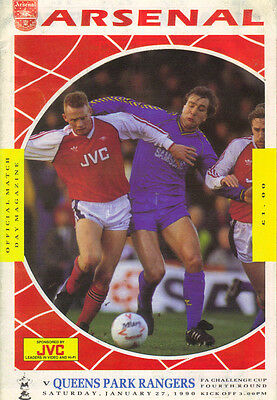 Arsenal v Queens Park Rangers 1989/90 FA Cup 4th round