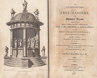 N57. [Lawrence Dermott] Constitution of Free-Masonry or Ahiman Rezon 7th ed 1807