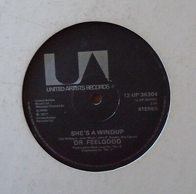 """DR FEELGOOD - Shes A Windup LTD EDITION 12"""" Single PS"""