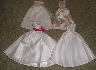 Bride Barbie Doll Clothes - 4 Assorted Age Wedding Gowns