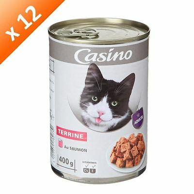CASINO Terrine au saumon - Pour chat adulte - (x12)