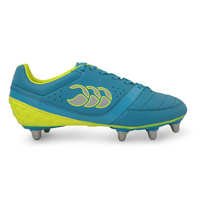 Canterbury Phoenix Club 8 Stud Rugby Boots 2016 Atomic Blue/Safety Yellow