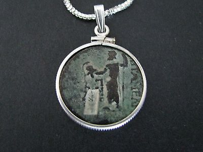 NILE  Ancient Egyptian Coin Pendant Amulet Necklace ca 100 AD