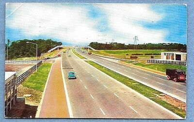 M6 Motorway Postcard Posted Chester 1963