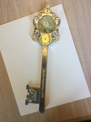 1950's Souvenir Key Thermometer Calendar Prudential Building Chicago Antique